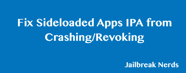 Fix Sideloaded Apps Revoke