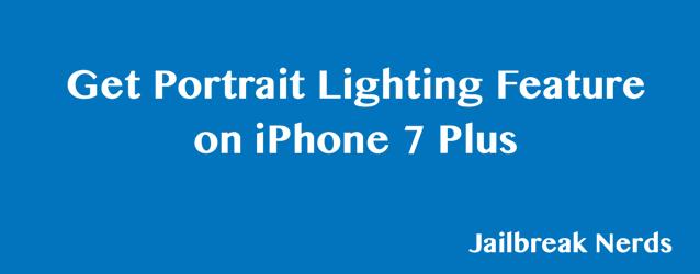 Portrait Lighting Feature iPhone 7 Plus