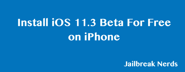 Install iOS 11.3 Beta For Free on iPhone without Developers Account