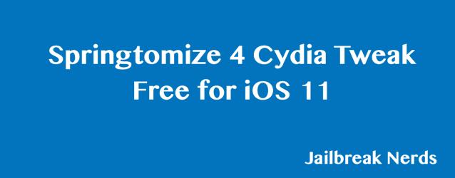 Download Springtomize 4 Cydia Tweak Free