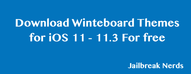 Winteboard Themes for iOS 11 without Jailbreak