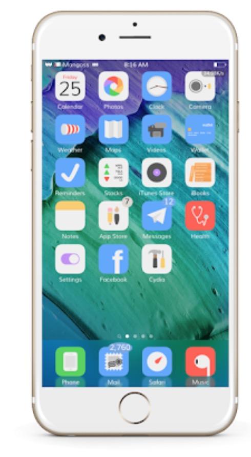 Acai Anemone Theme for iOS 11.3.1