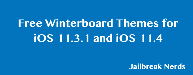 Free Winterboard Themes iOS 11.3.1 and iOS 11.4