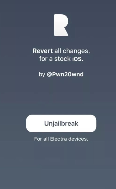 Semi Restore Electra Jailbroken Device with Rollectra