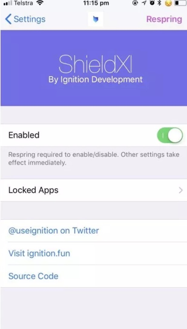 ShieldXI iOS 11 Cydia Tweak