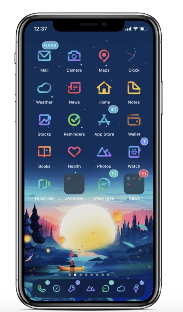 Folds SnowBoard Theme for iOS 12